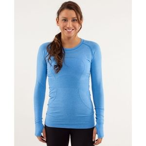 Lululemon Run Swiftly Tech Long Sleeve Blue Top